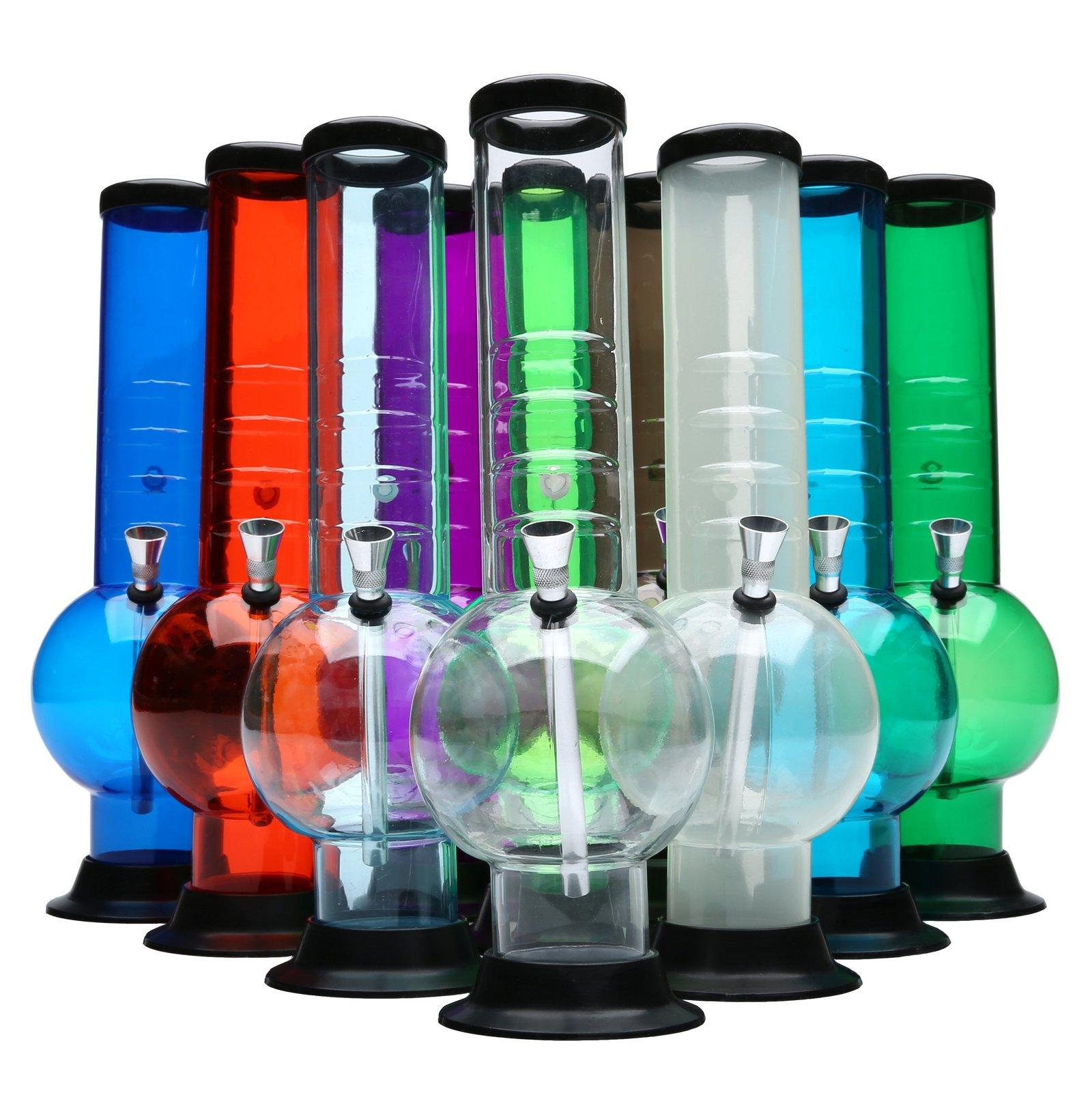 "12"" Acrylic Grip Bubble Bottom Bong - 420 Glass Search"